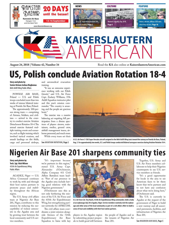 Kaiserslautern American, August 24, 2018 by AdvantiPro GmbH