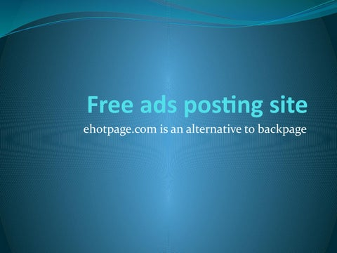Backpage are like sites what other New Backpage