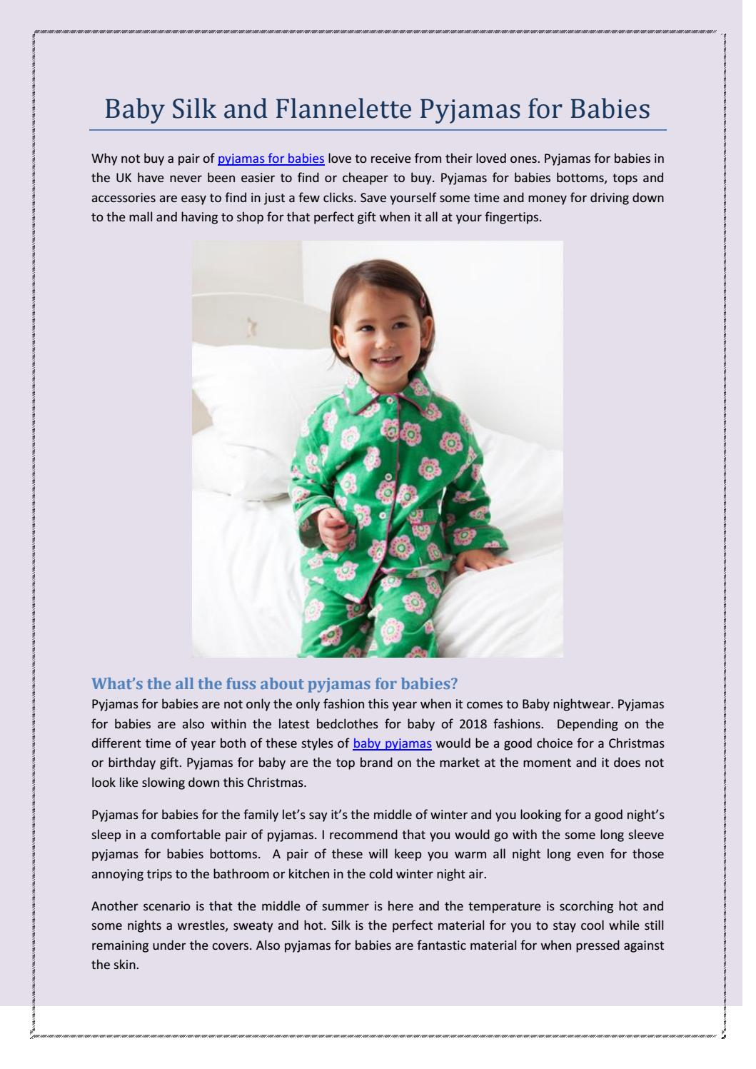 5930aa8f42ca Baby Silk and Flannelette Pyjamas for Babies by Tilly and Jasper - issuu