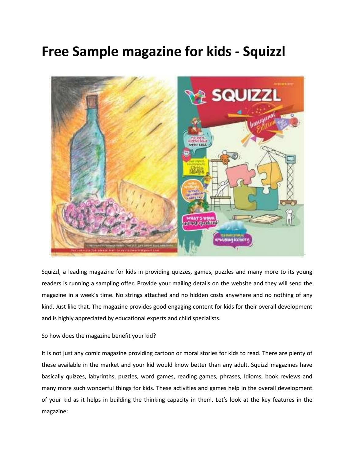 best magazine for kids - Squizzl by squizzlworld - issuu