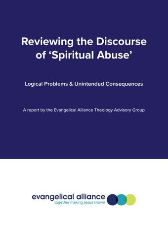 Reviewing the discourse of 'spiritual abuse' by Evangelical Alliance