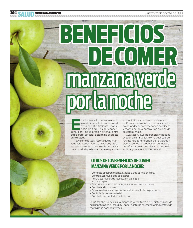 beneficios de comer manzana en la noche