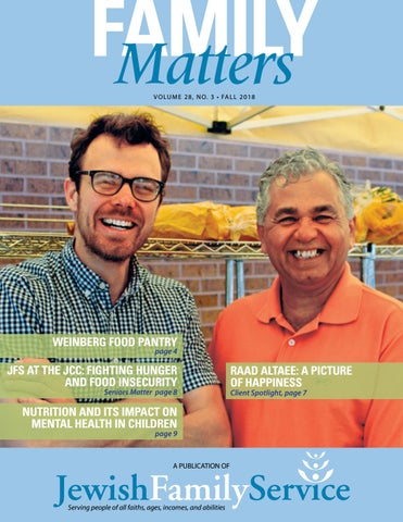 Fall 2018 Family Matters By Jewish Family Service Of Colorado Issuu