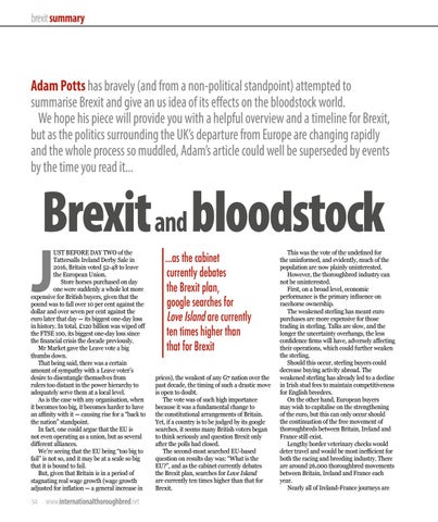 Page 54 of Brexit and bloodstock
