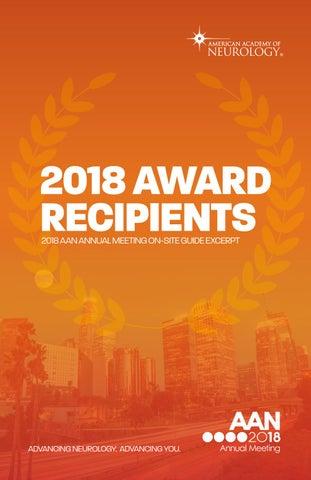2018 Award Recipients by American Academy of Neurology - issuu