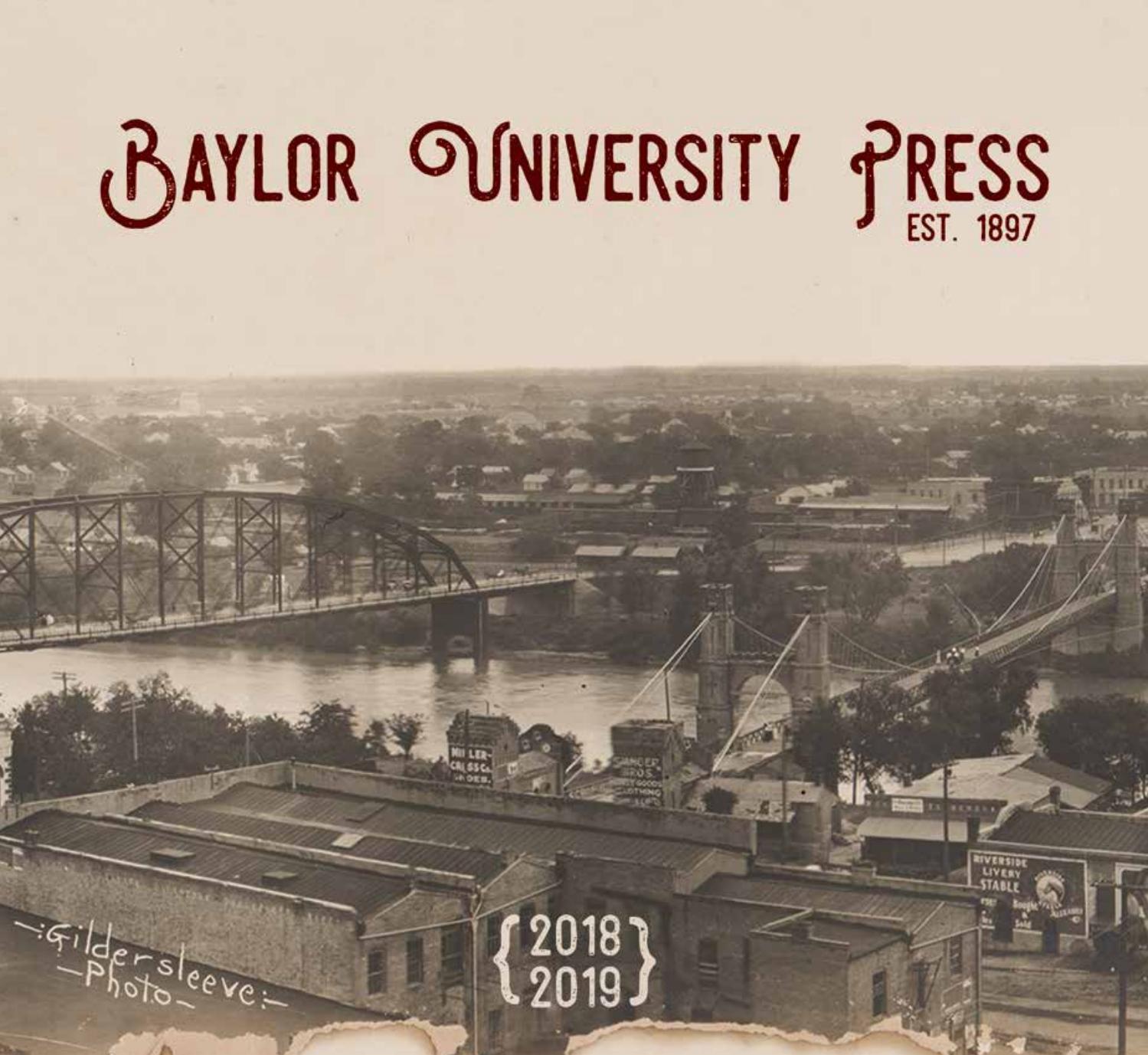 Baylor University Press 2018 19 Catalog By Baylor border=