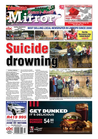 24 August 2018 Limpopo Mirror By Zoutnet Issuu