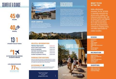 Pepperdine Malibu Campus Map.Pepperdine Seaver College Campus Walking Tour Guide By Pepperdine