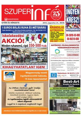 cc05b6c78a Győri Szuperinfó XXI./34– 2018.08.24. by Arrabonamedia - issuu