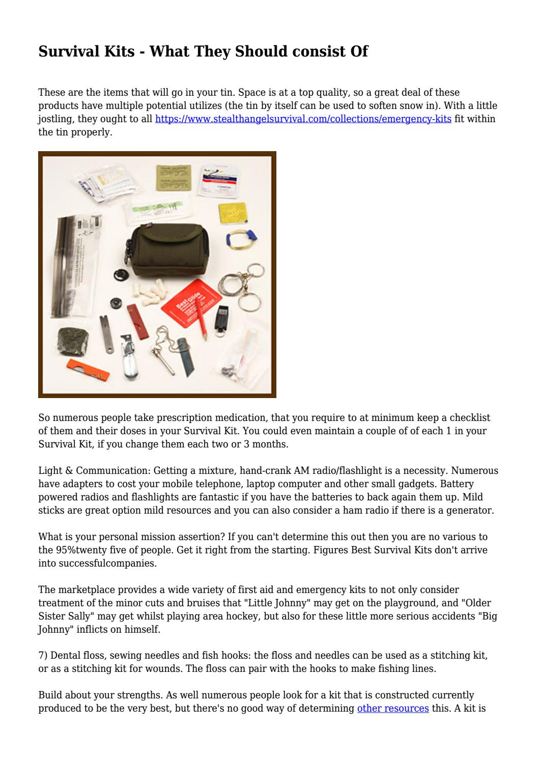 Survival Kits - What They Should consist Of by