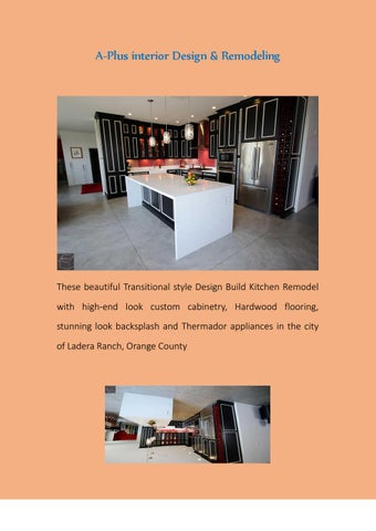 California Kitchen Remodeling By Alex Tabrizi Issuu