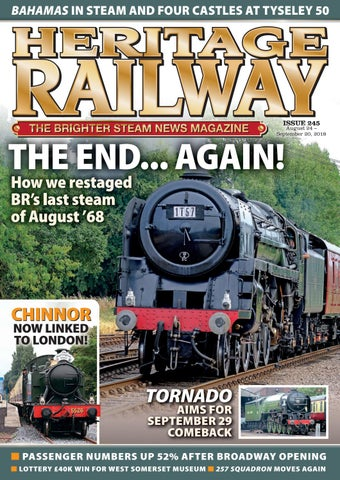 Heritage Railway - Issue 245 - 24th August 2018 - Preview by Mortons