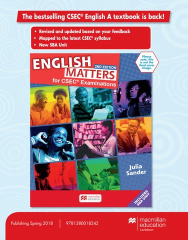 English Matters For CSEC Examinations Second Edition