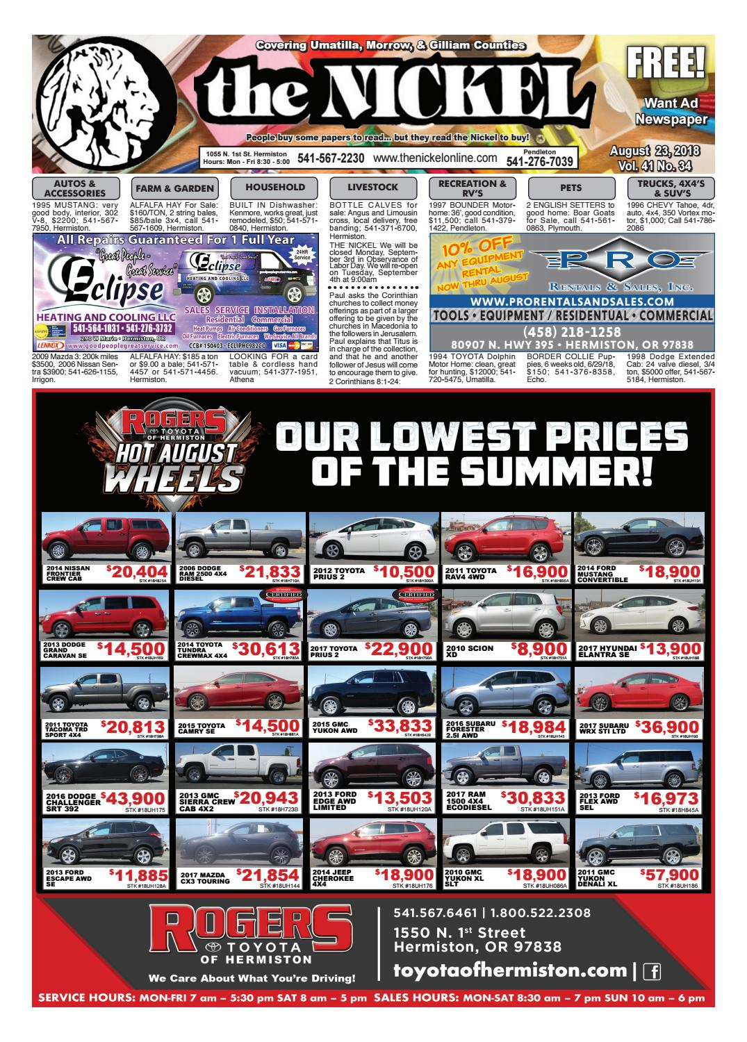 8.23.18 Issue by Hermiston Nickel - issuu on