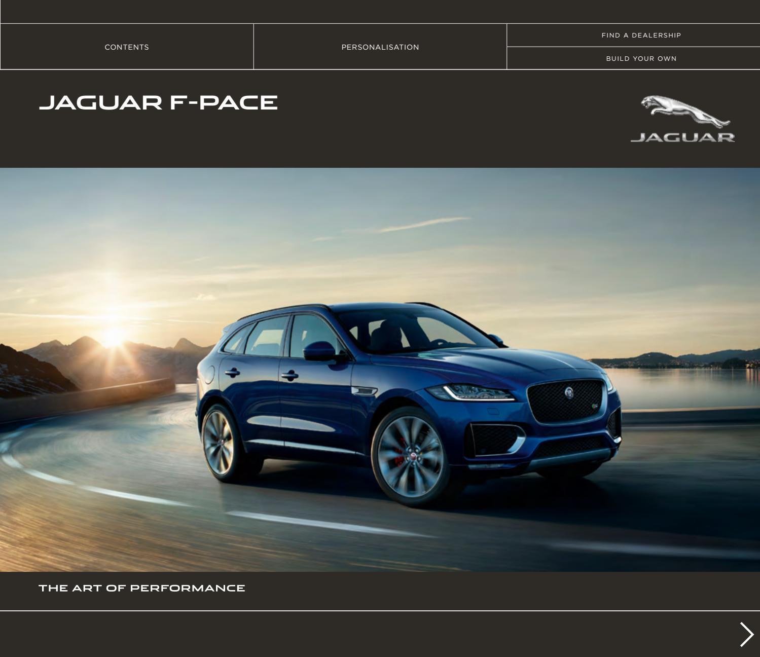 Jaguar F-Pace - Bæklingur