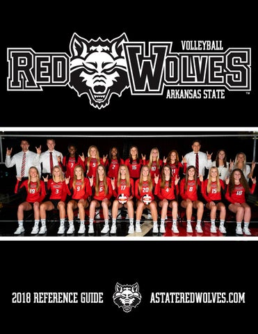 2018 Arkansas State Volleyball Reference Guide by Dennen Cuthbertson ... 36e75782e