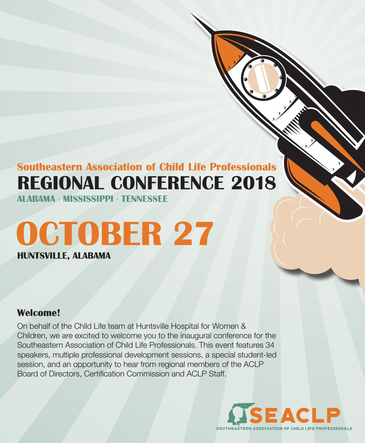 Southeastern Regional Child Life Conference Program By Huntsville