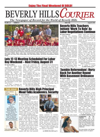 BHCourier E-edition 082418 by The Beverly Hills Courier - issuu