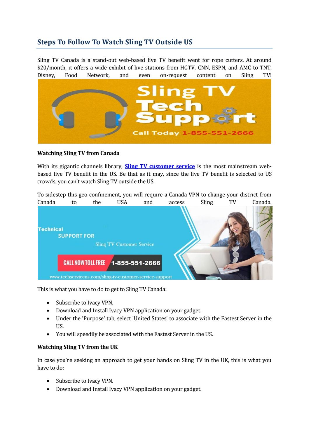 Steps To Follow To Watch Sling TV Outside US by Warner Trinh