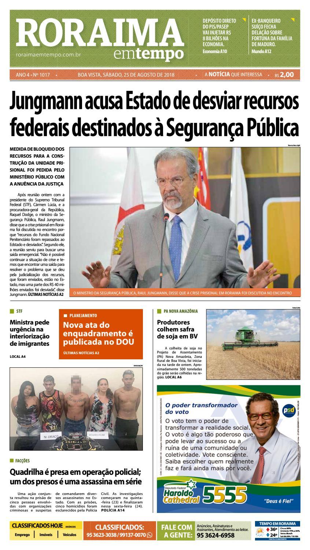 29e957b2b76 Jornal Roraima em tempo – edição 1017 by RoraimaEmTempo - issuu