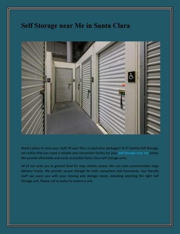 Page 1. Self Storage Near Me In Santa Clara