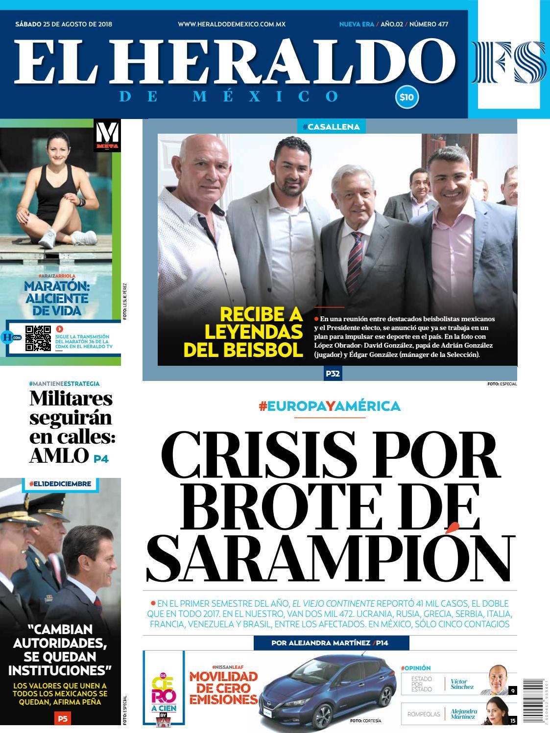 El Heraldo 25 de agosto de 2018 by El Heraldo de México - issuu eb5a8c858562a