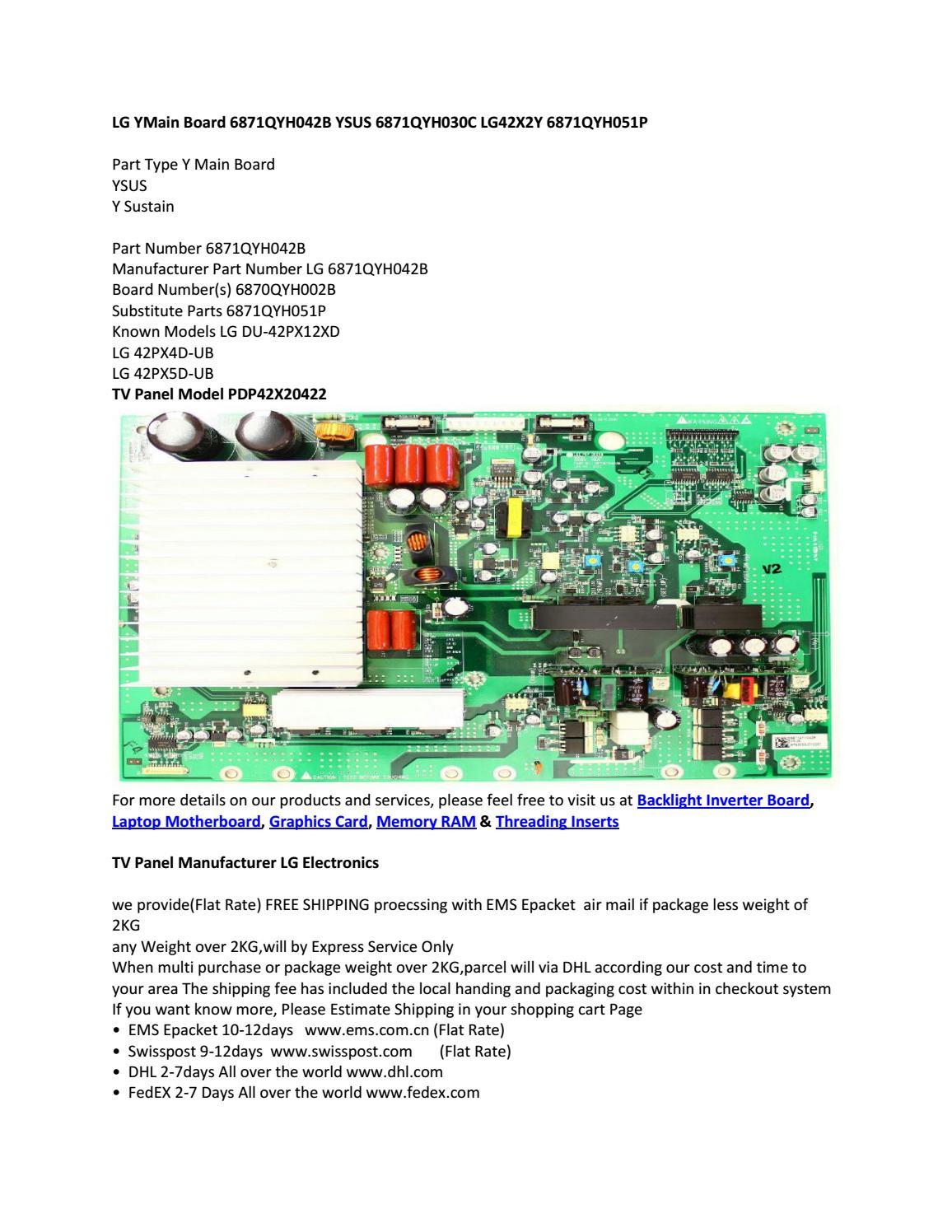 LG YMain Board 6871QYH042B YSUS 6871QYH030C LG42X2Y 6871QYH051P by