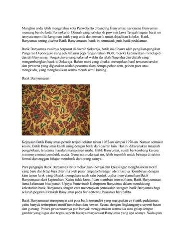 Terbaru Batik Banyumas Wa 089685026026 By Baju Batik Issuu