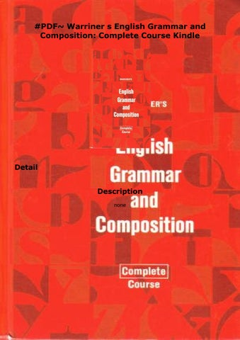English Grammar And Composition Pdf