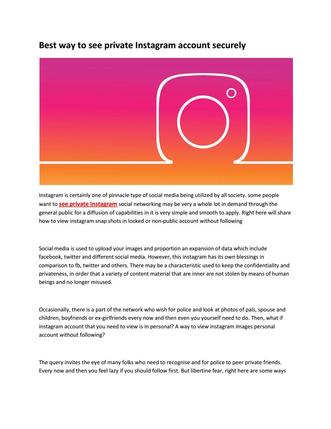 How to view a private instagram account by shehroz haider