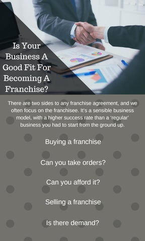 Is Your Business A Good Fit For Becoming A Franchise By Sydney