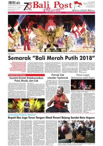 Edisi Minggu 26 Agustus 2018 | balipost com by e-Paper KMB