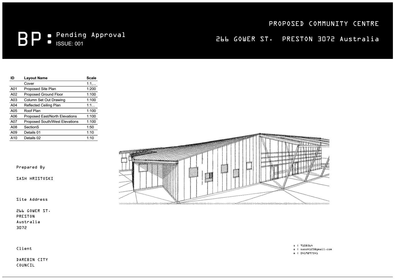 Community Center Working Drawings By Saso Hristoski Issuu