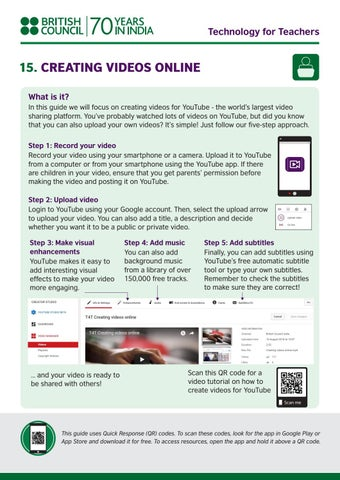 Technology for teacher series 15 creating videos online by british page 1 ccuart Image collections