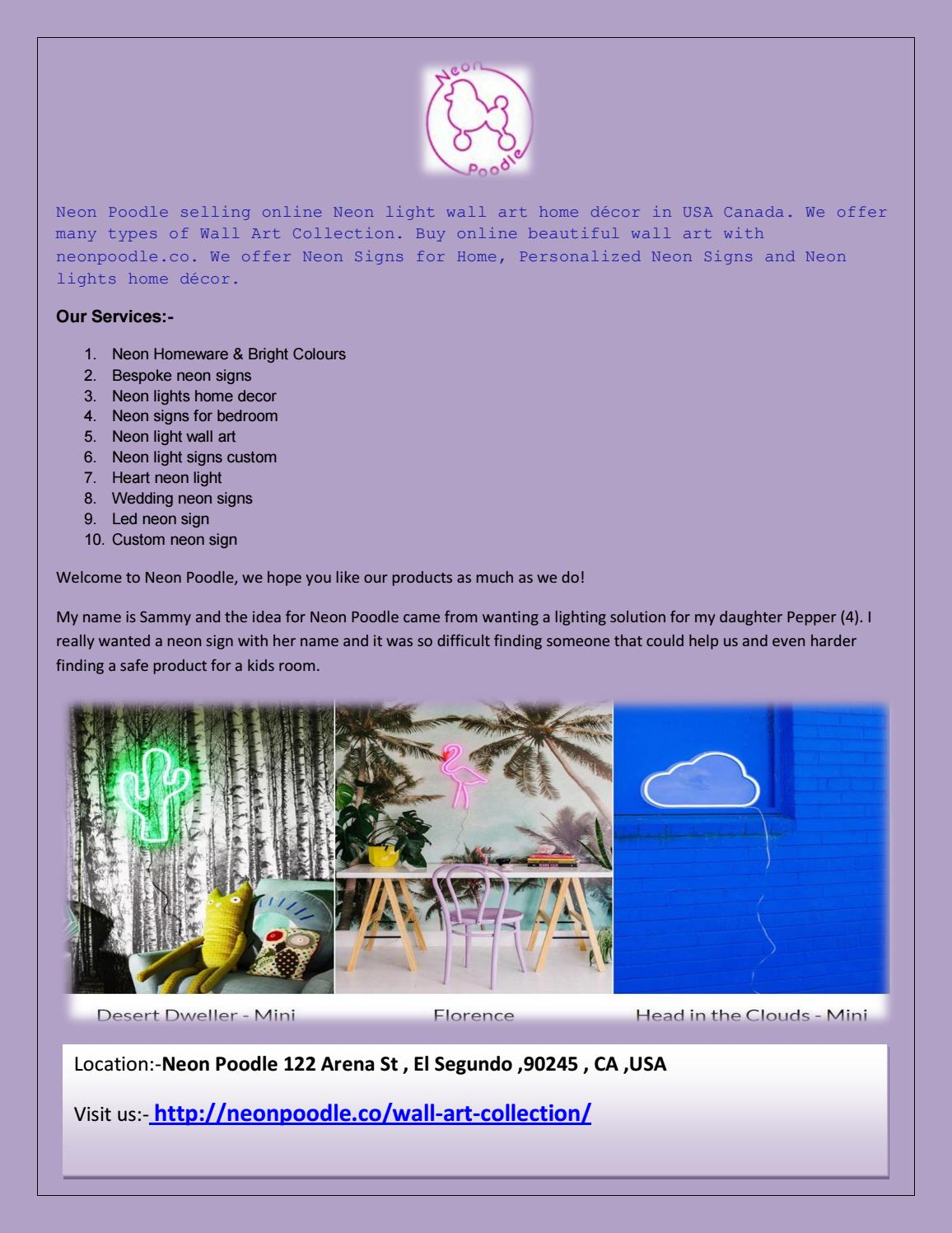 Online Selling Neon Light Wall Art Home Dccor In Usa Canada By Cashforland Issuu