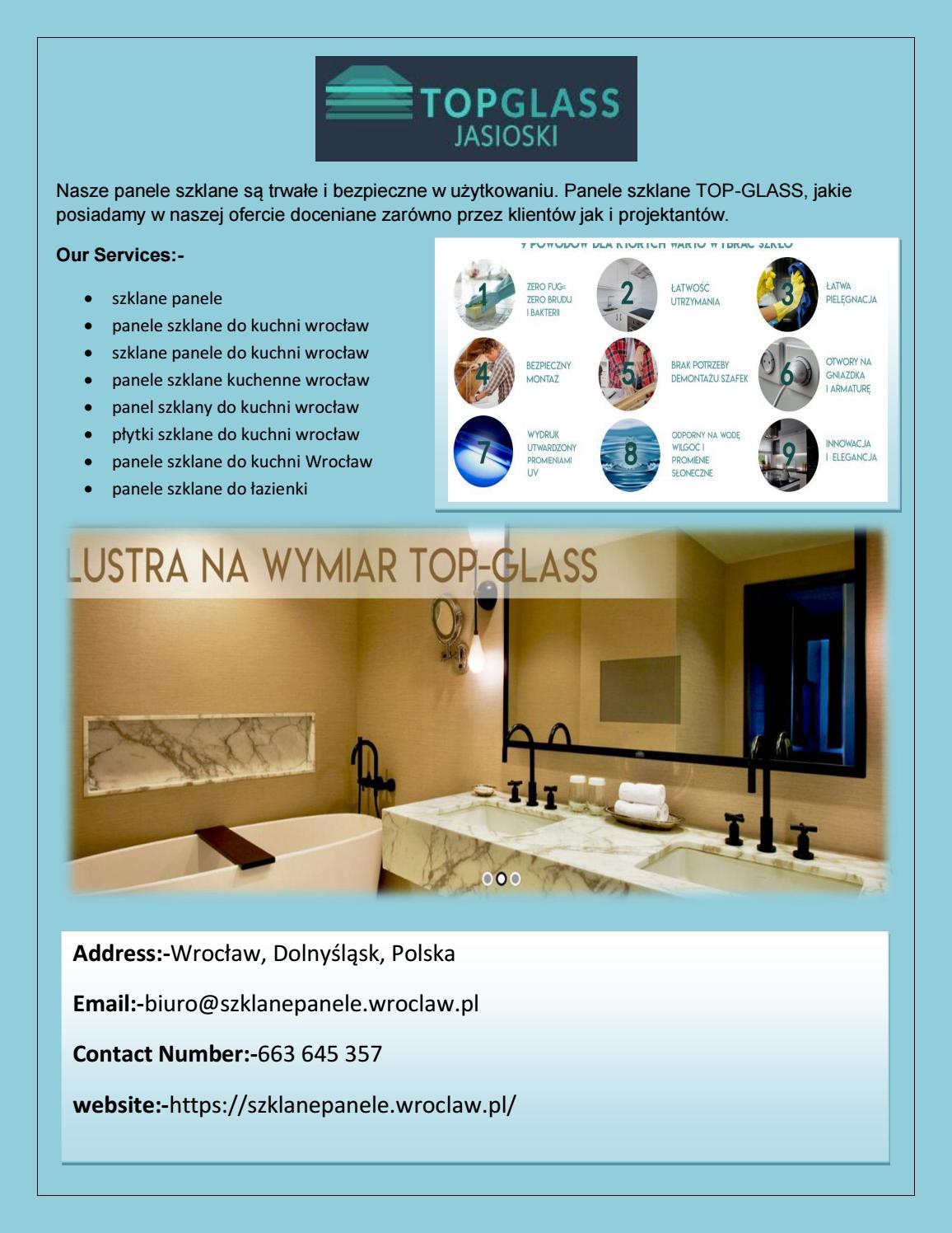 Panele Szklane Wroclaw Top Glass Jasioski By Pharmashop4u
