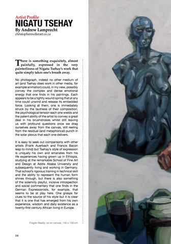Page 38 of Artist Profile Nigatu Tsehay By Andrew Lamprecht