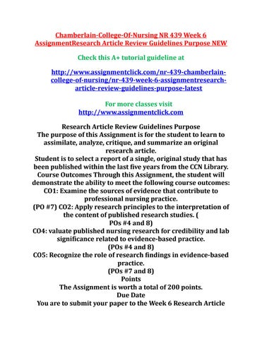 article review guidelines