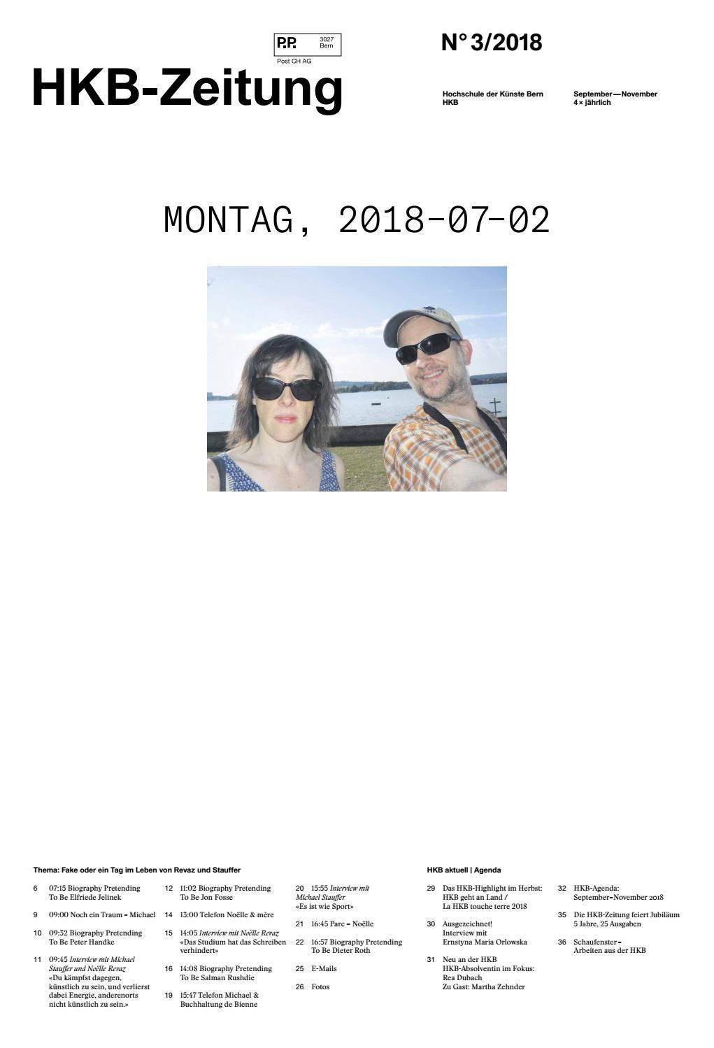 HKB Zeitung 3/2018 by Hochschule der Künste Bern - issuu