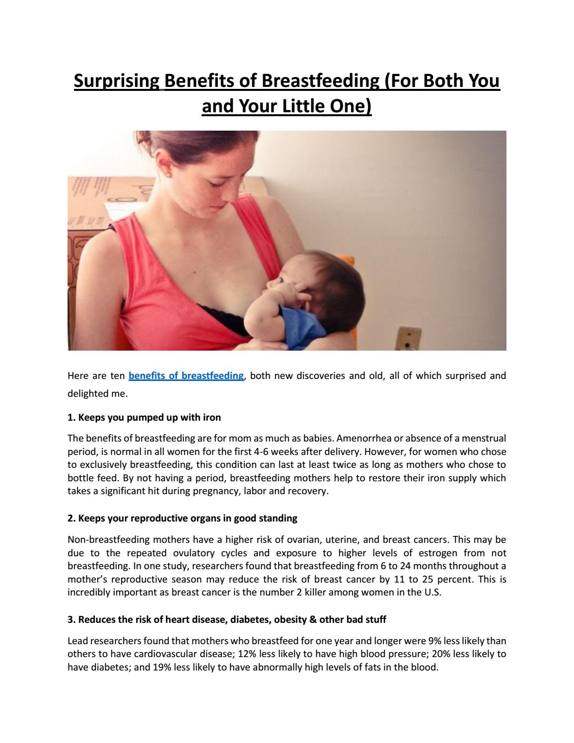 96a8c3aab Surprising Benefits of Breastfeeding (For Both You and Your Little One)