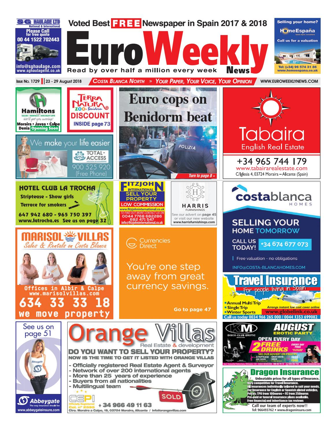 a47b620f1916 Euro Weekly News - Costa Blanca North 23 - 29 August 2018 Issue 1729 ...