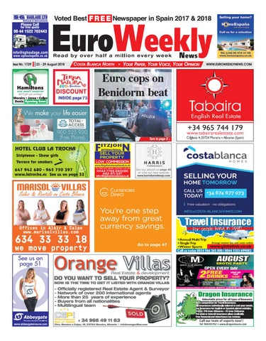 93117a587c7 Euro Weekly News - Costa Blanca North 23 - 29 August 2018 Issue 1729 ...