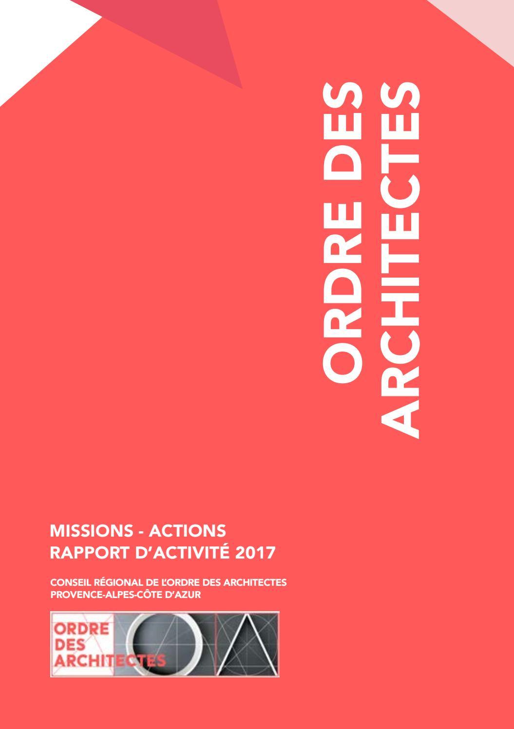 Liste Ordre Des Architectes rapport d'activité 2017ordre des architectes paca - issuu