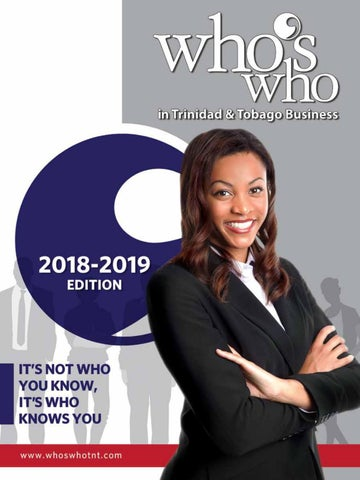 Who's Who in Trinidad & Tobago Business 2018-2019 by