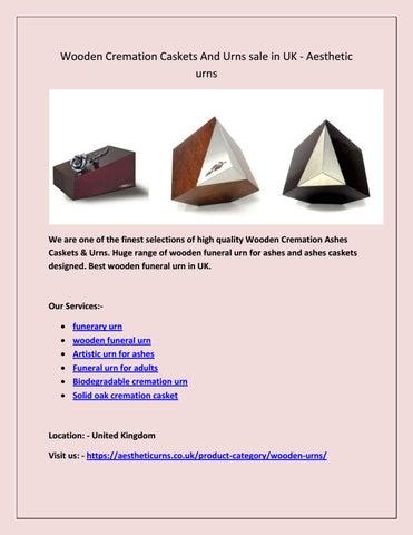 Wooden Cremation Caskets &