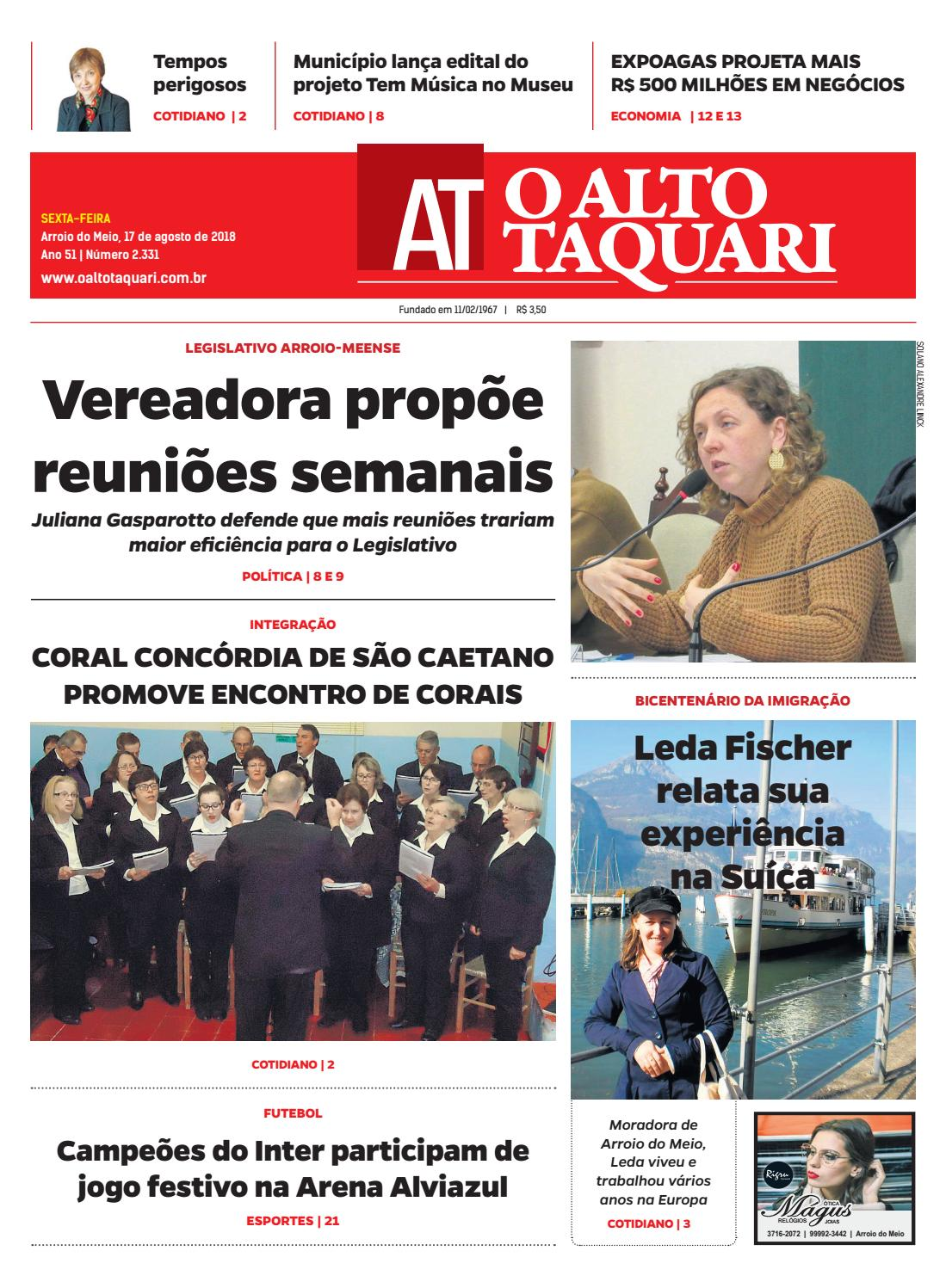 dcca02a9371 Jornal O Alto Taquari - 17 de agosto de 2018 by Jornal O Alto Taquari -  issuu