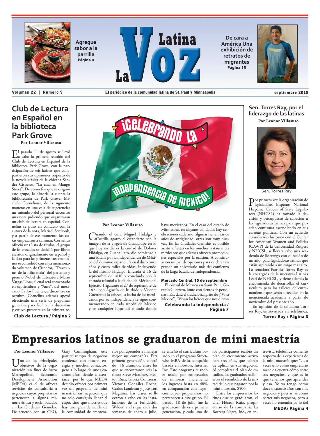 La Voz Latina September 2018 by St. Paul Publishing Co. - issuu