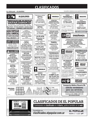 Clasificados del día 26 08 2018 by diarioelpopular - issuu dc5b5b08602