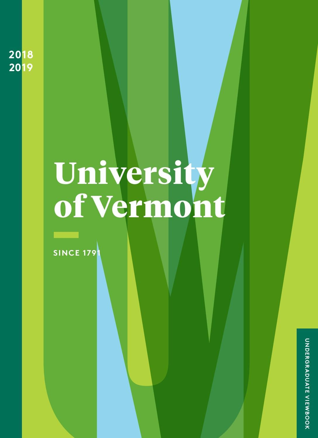 University of Vermont Admissions Viewbook 2018-19 by
