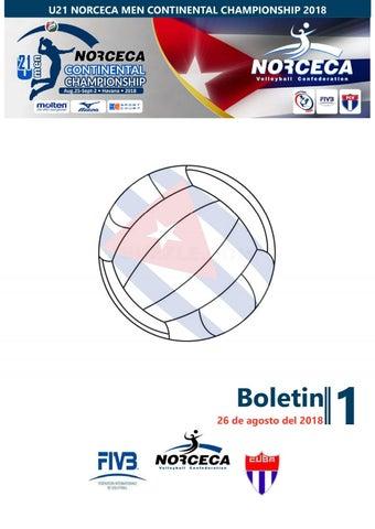 Calendario U21.Bulletin No1 U21 Norceca Men Continental Championship 2018
